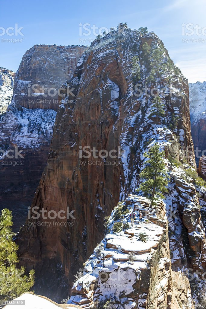 Angel's Landing Zion National Park stock photo