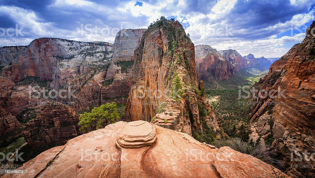Angels Landing - Zion National Park stock photo