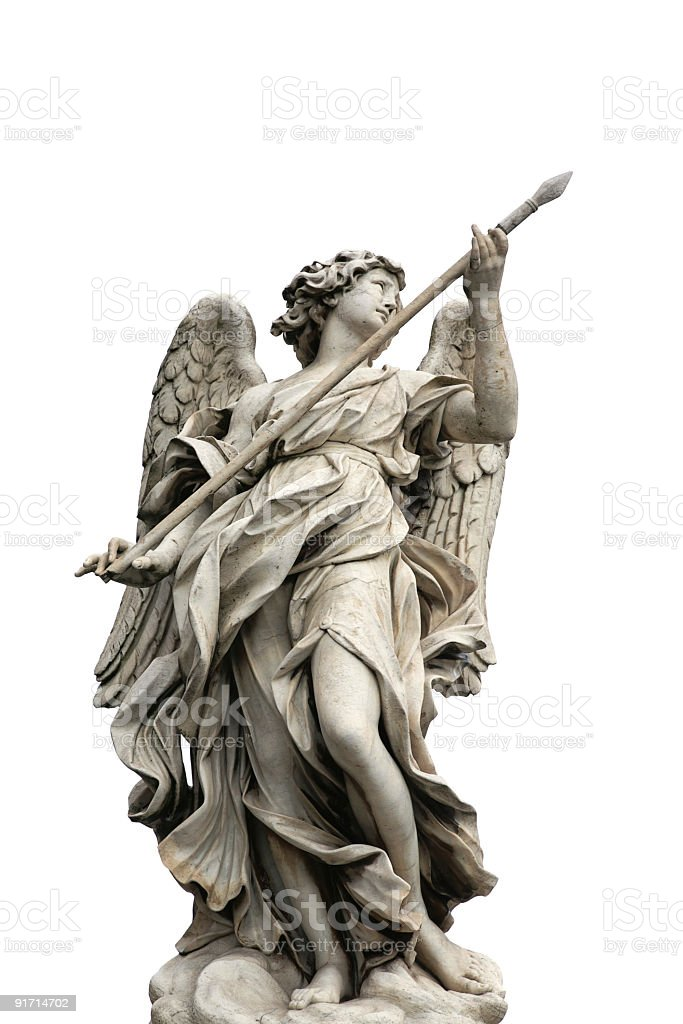 angels on the bridge 'Ponte Sant Angelo' royalty-free stock photo