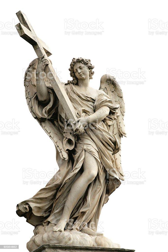angels on the bridge 'Ponte Sant Angelo' royalty-free stock photo