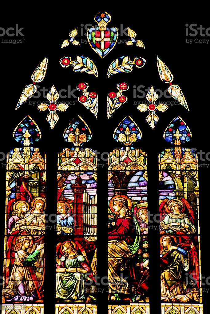 Angels Stained Glass National Shrine Saint Francis San Francisco royalty-free stock photo