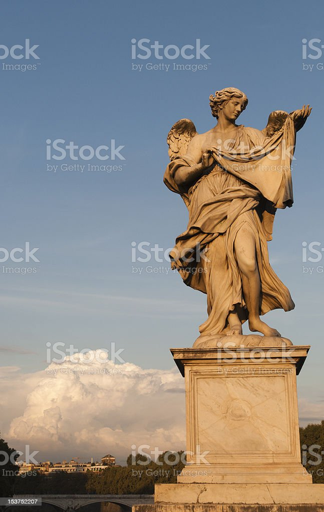 Angel's statue on Ponte Sant Angelo royalty-free stock photo