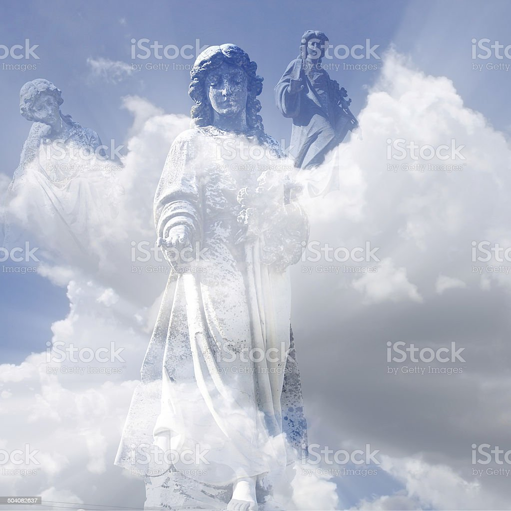 angels waiting stock photo