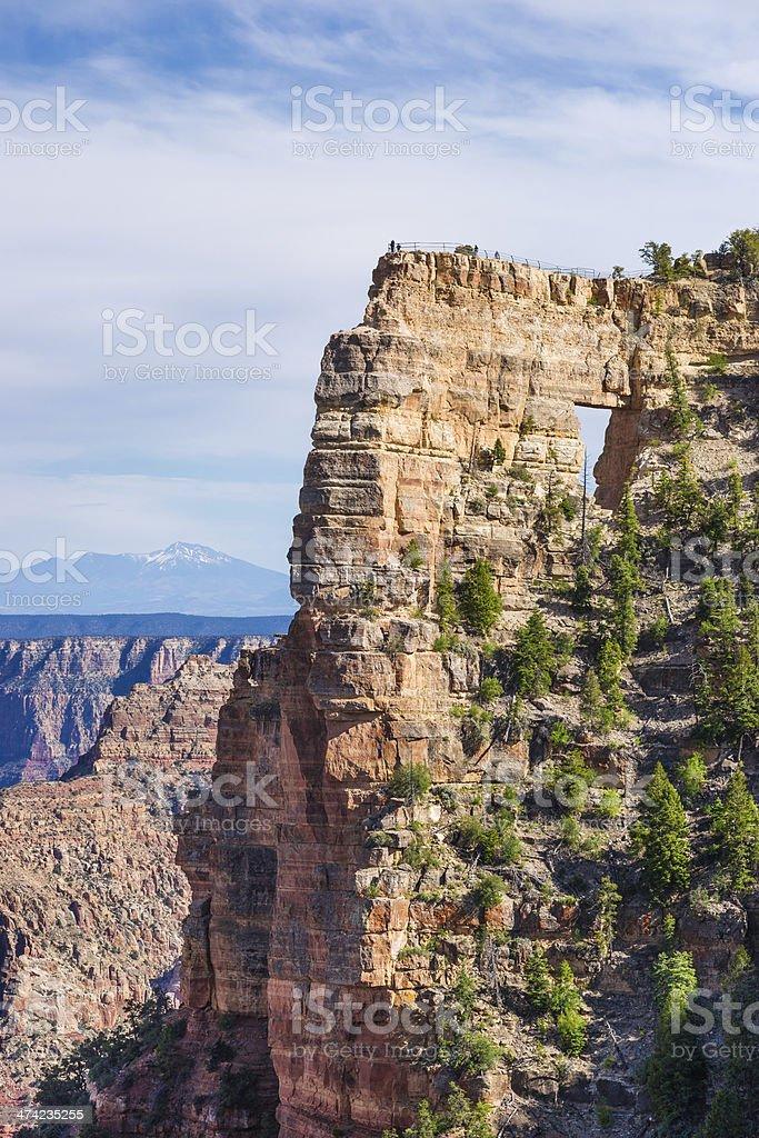 Angels Window, Cape Royal, North Rim of Grand Canyon, Arizona stock photo