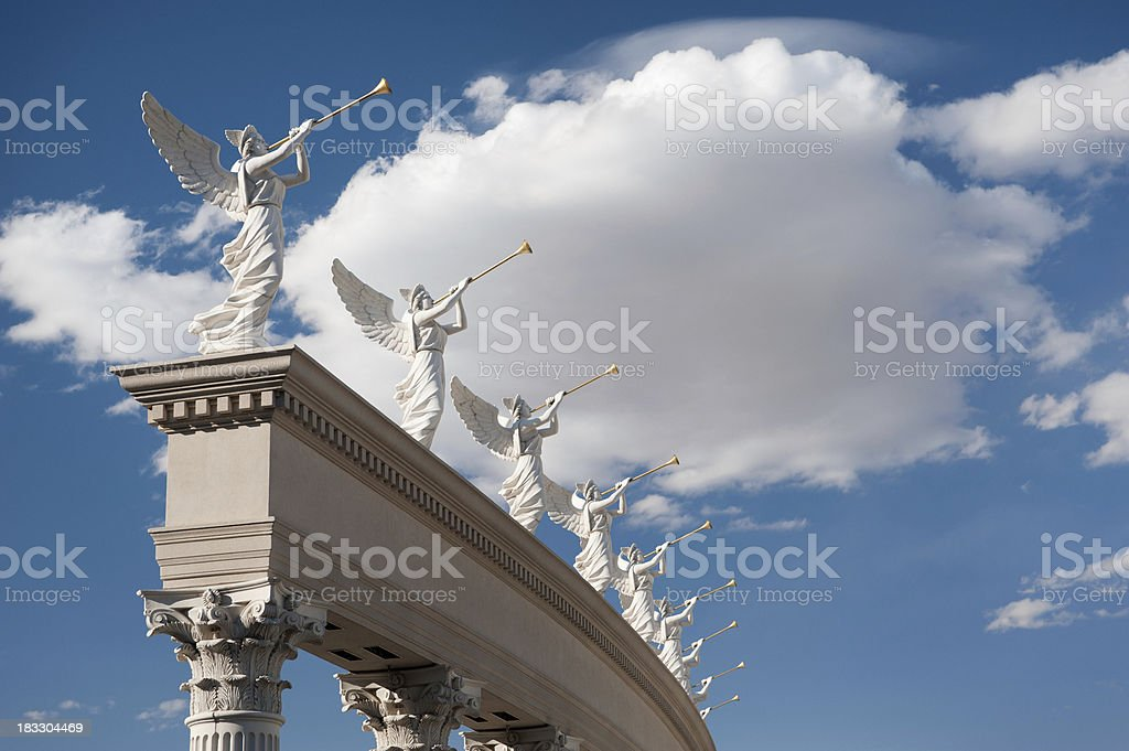 Angels with Trumpets, Caesars Palace, Las Vegas (XXL) stock photo