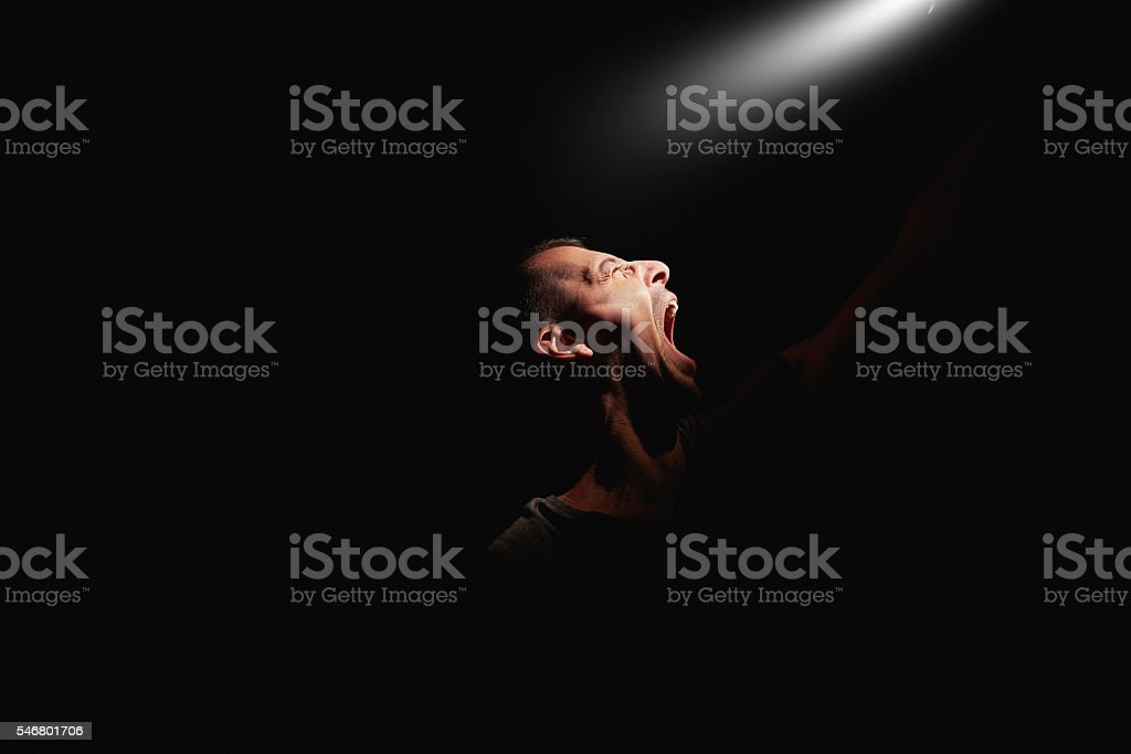 anger and pain stock photo