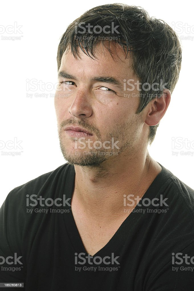Anger, Disbelief and Frustration royalty-free stock photo