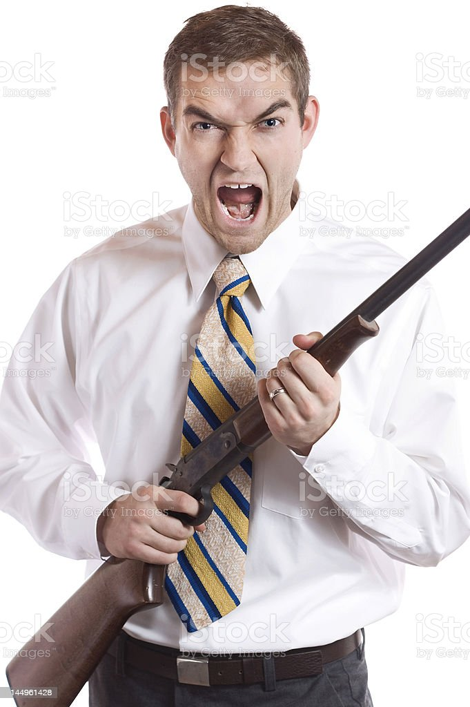 Anger in the Workplace royalty-free stock photo