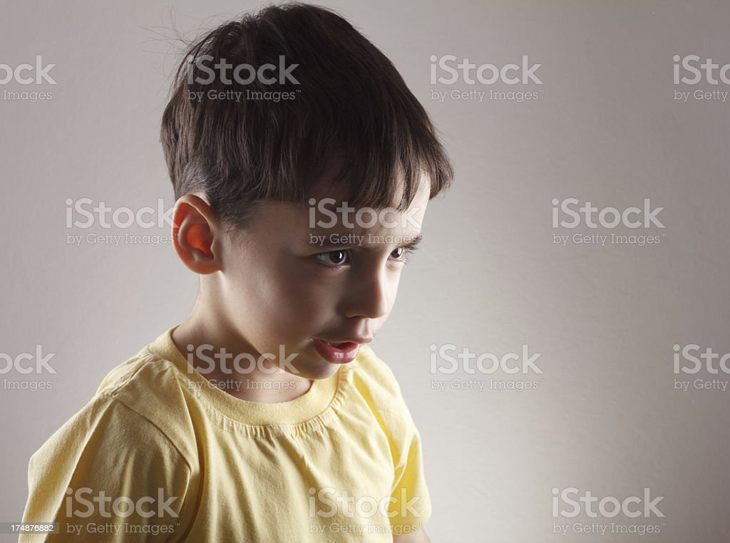 Anger little boy royalty-free stock photo
