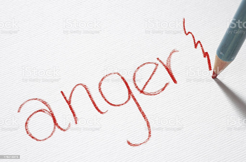Anger stock photo