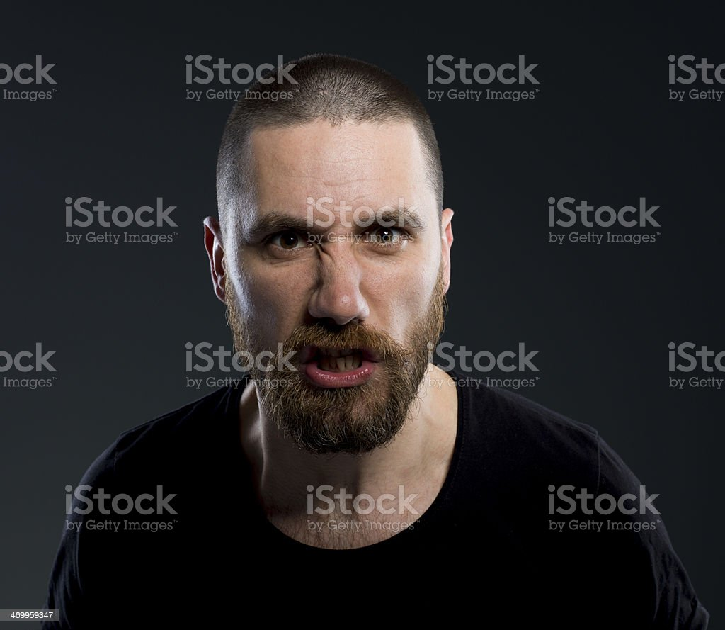 Anger Young Man stock photo