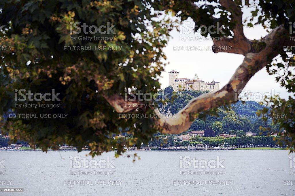 Angera Castle stock photo