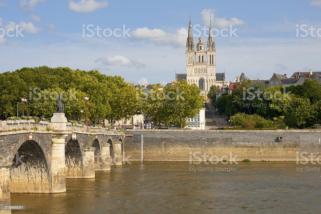 Angers at a summer day stock photo