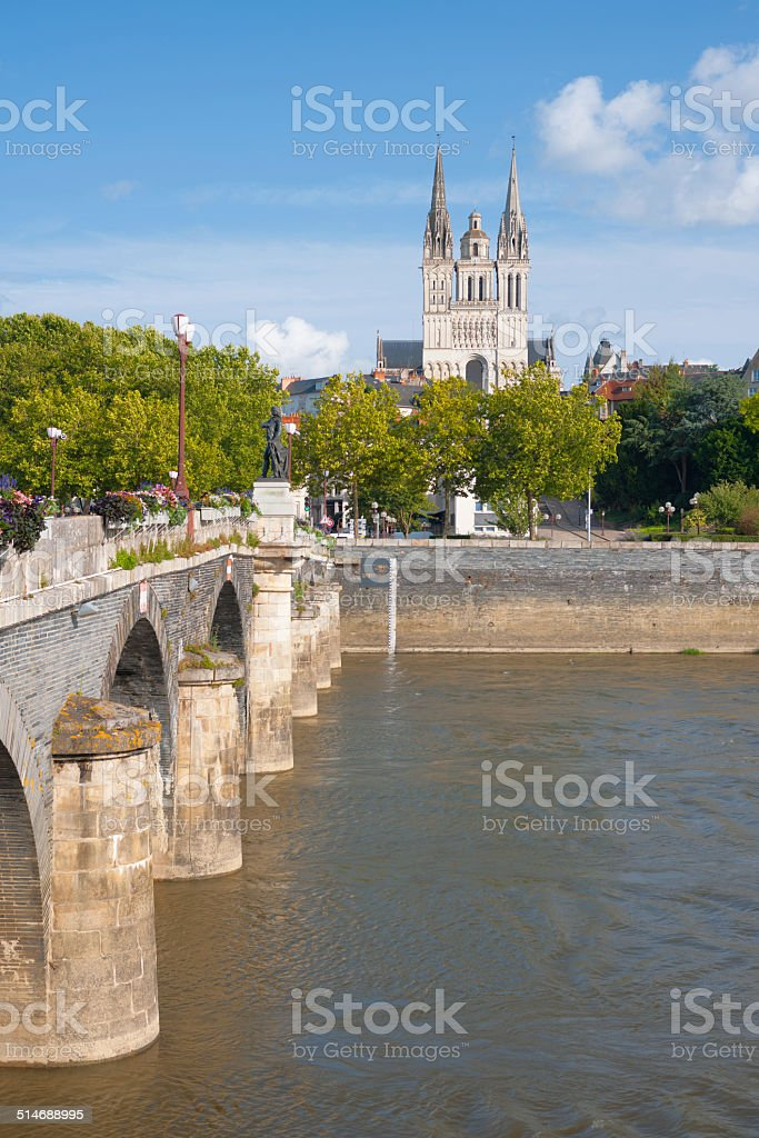 Angers at summer stock photo