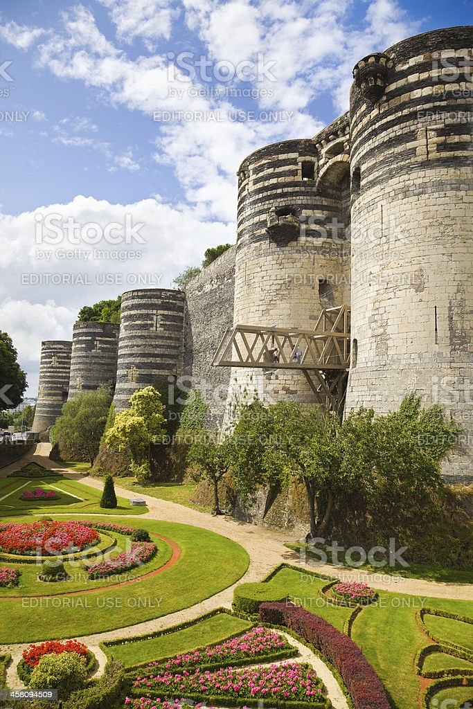 Angers Chateau, France stock photo