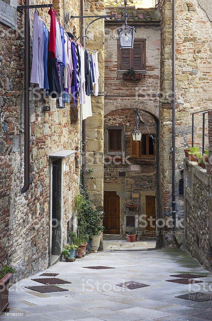 Anghiari alley, Tuscany Italy stock photo
