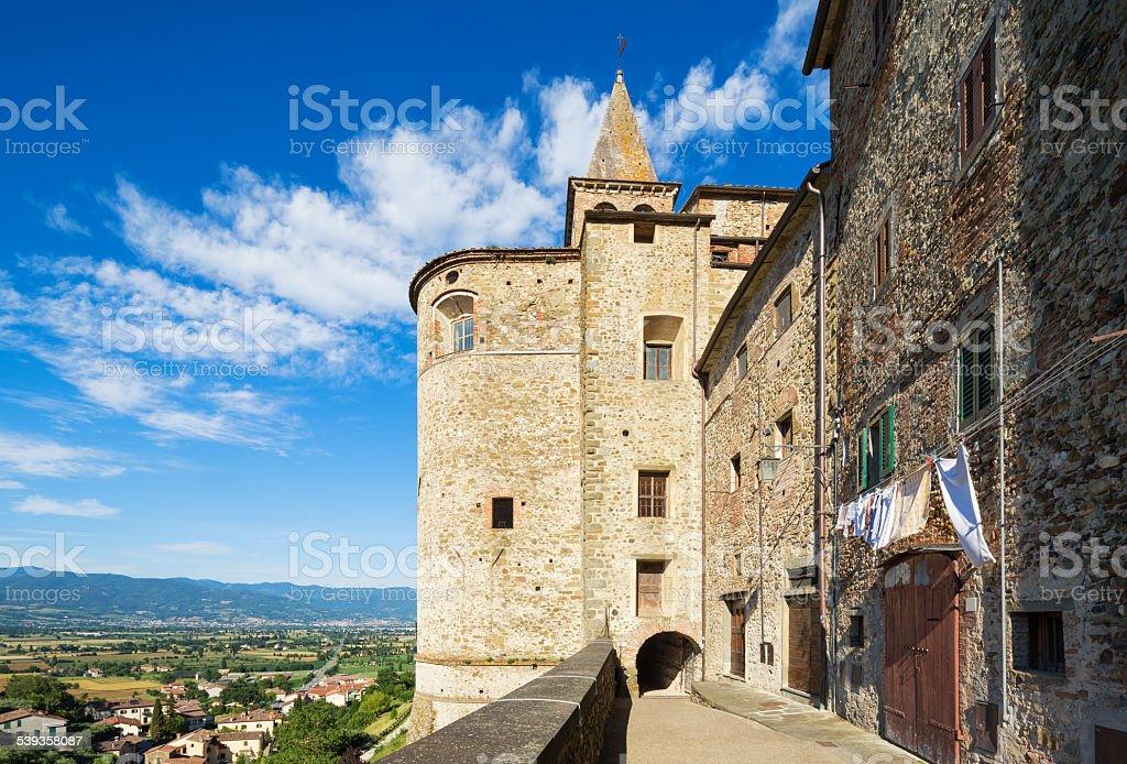 Anghiari archway, Tuscany Italy stock photo