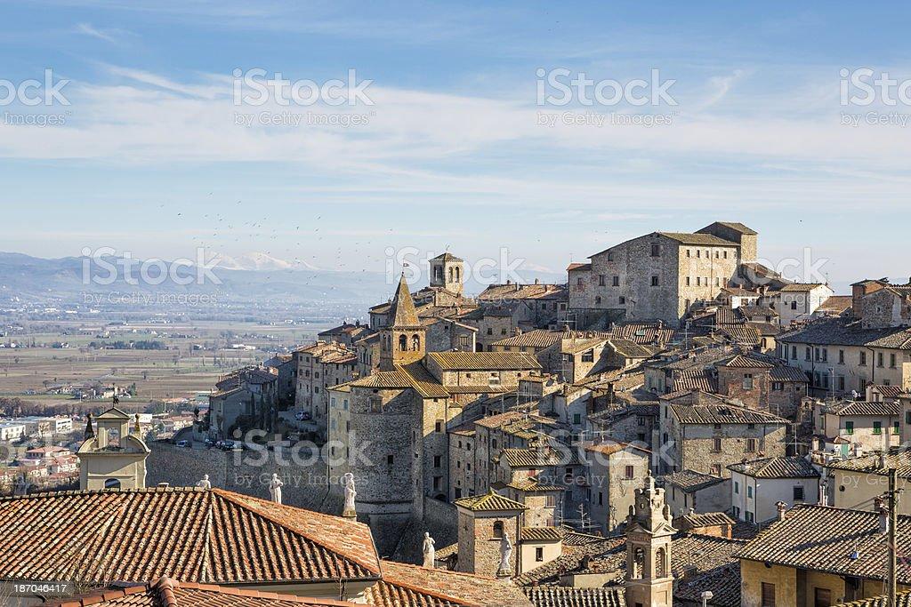 Anghiari cityscape, Tuscany Italy stock photo