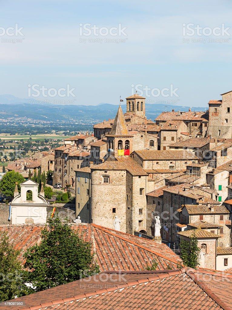 Anghiari skyline, Tuscany Italy stock photo