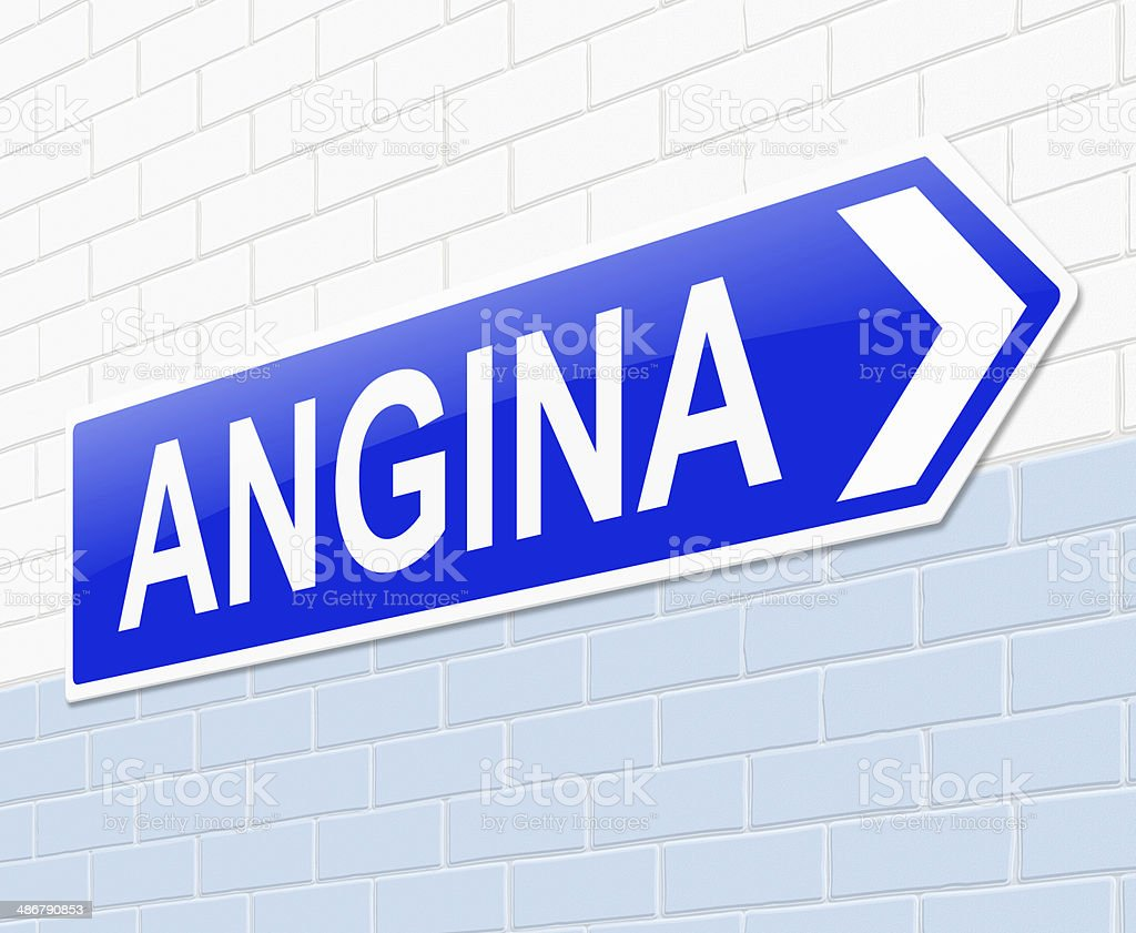 Angina concept. royalty-free stock photo
