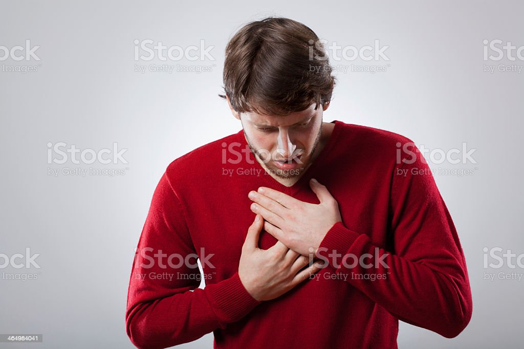 Angina stock photo