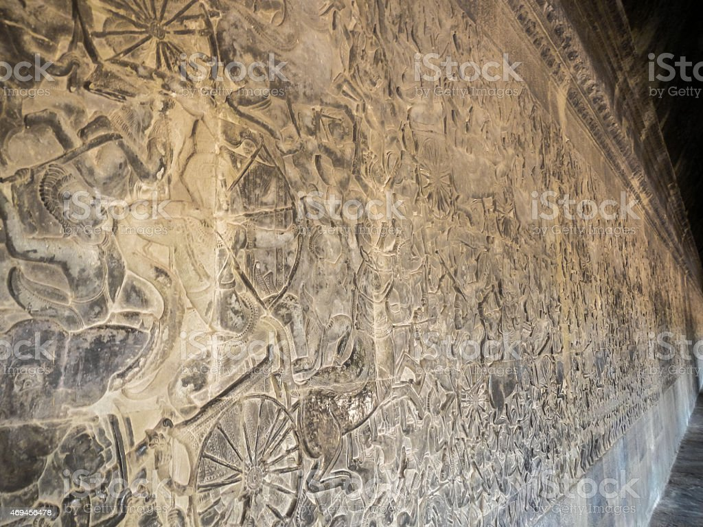 Angkor Bas Relief Carvings stock photo