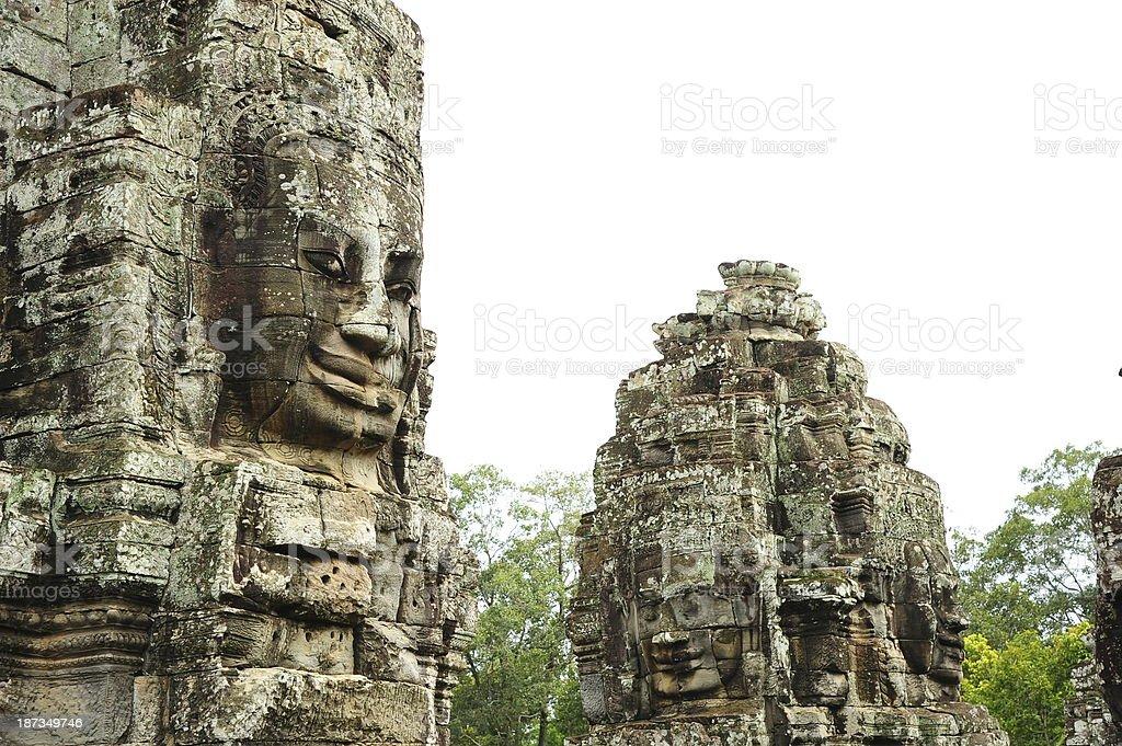 Angkor Bayon Temple of Angkor Thom in Cambodia royalty-free stock photo