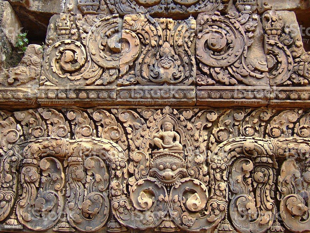 Angkor carving royalty-free stock photo