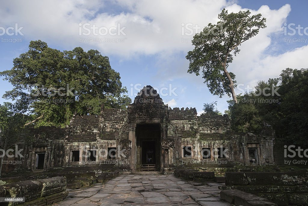 Angkor temple's fragment royalty-free stock photo