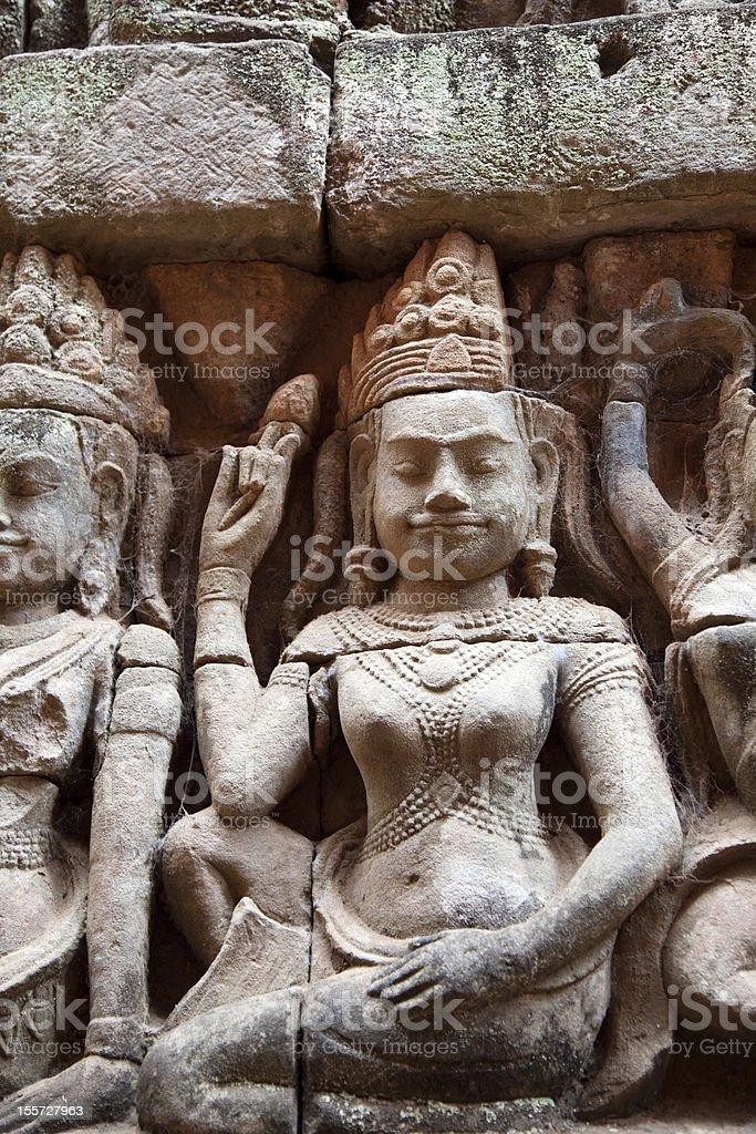 Angkor Thom Apsara stock photo