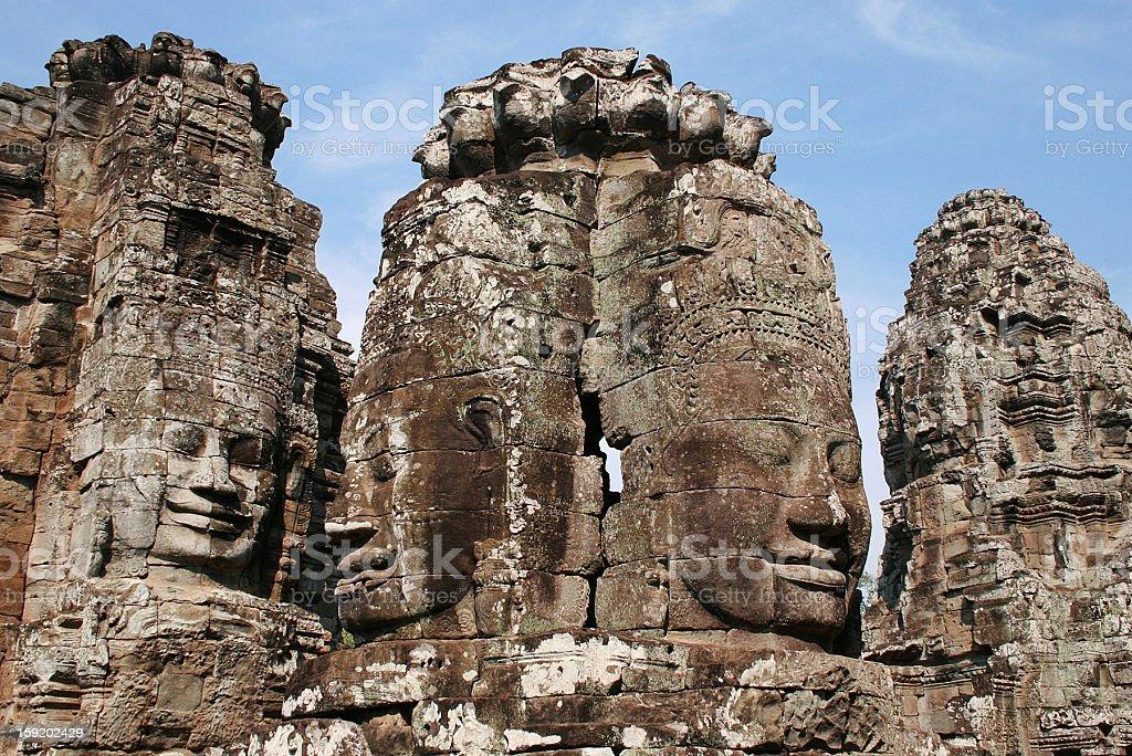 Angkor Thom-Tempio di Bayon foto stock royalty-free