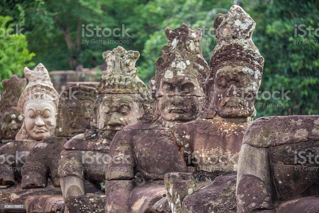 Angkor Thom in Cambodia stock photo