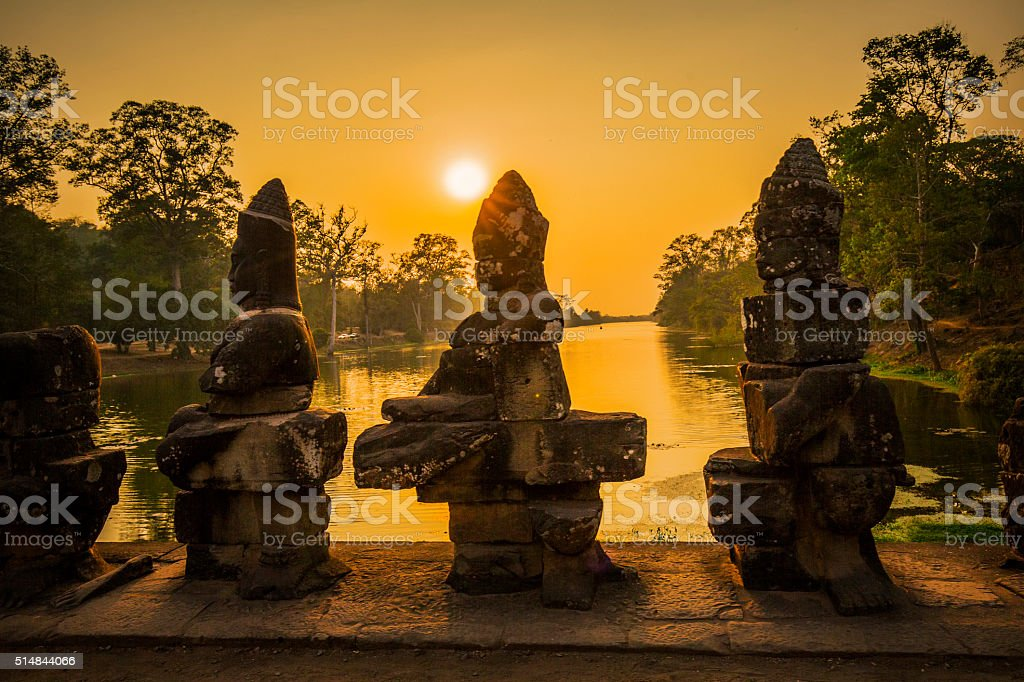 Angkor Thom ruins Cambodia stock photo