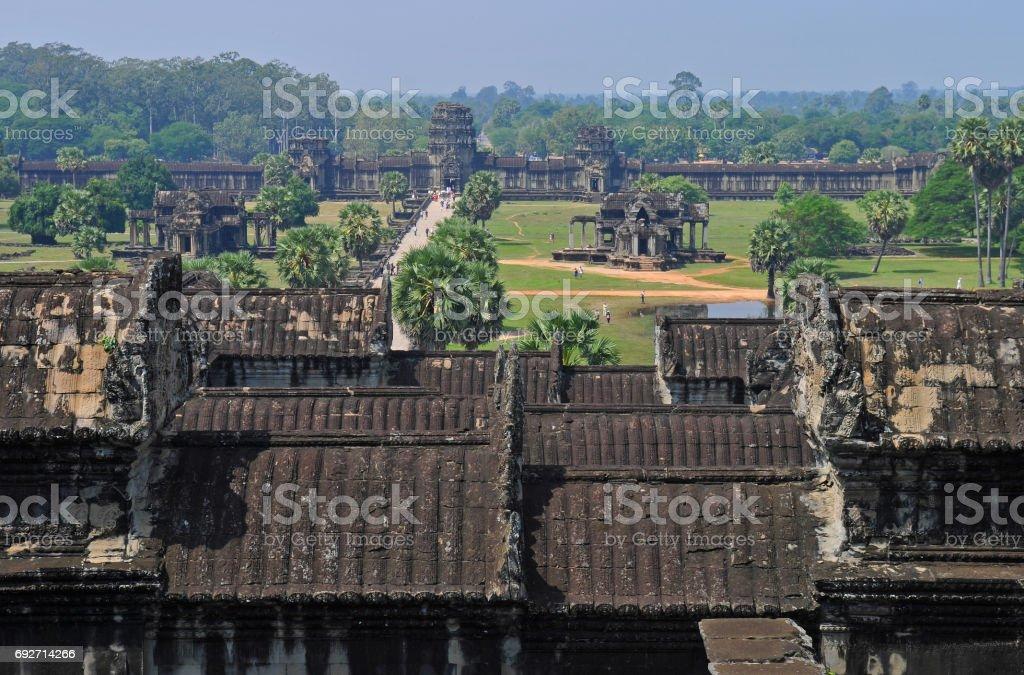Angkor Wat Aerial View stock photo