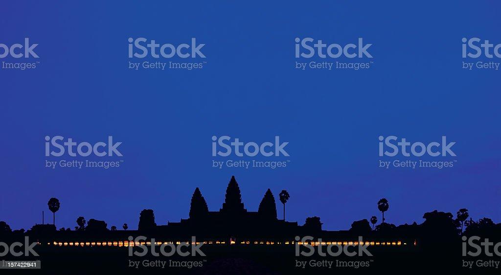 Angkor Wat at dawn. stock photo