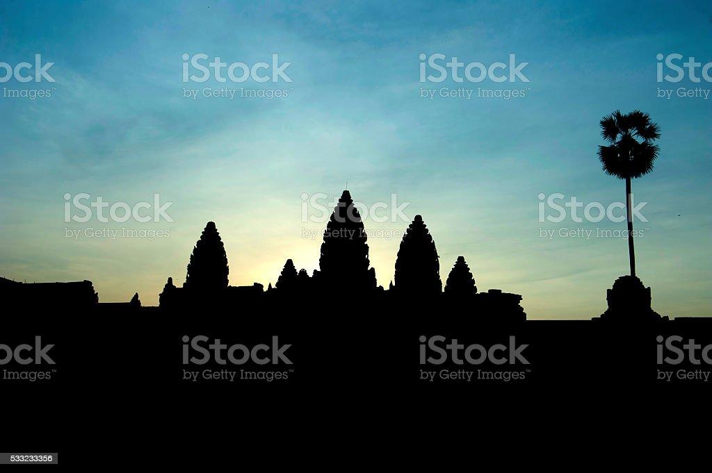 Angkor Wat at Dawn stock photo