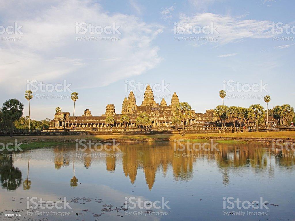 Angkor Wat at sunset with saffron royalty-free stock photo