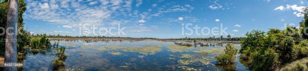 Angkor Wat Baray stock photo