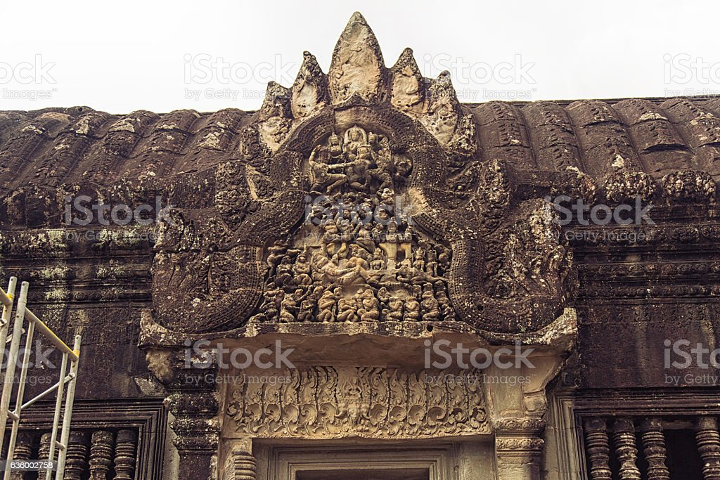 Angkor Wat - Bas Relief stock photo