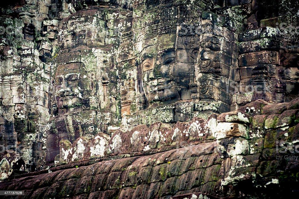 Angkor Wat Cambodia Bayon Temple stock photo