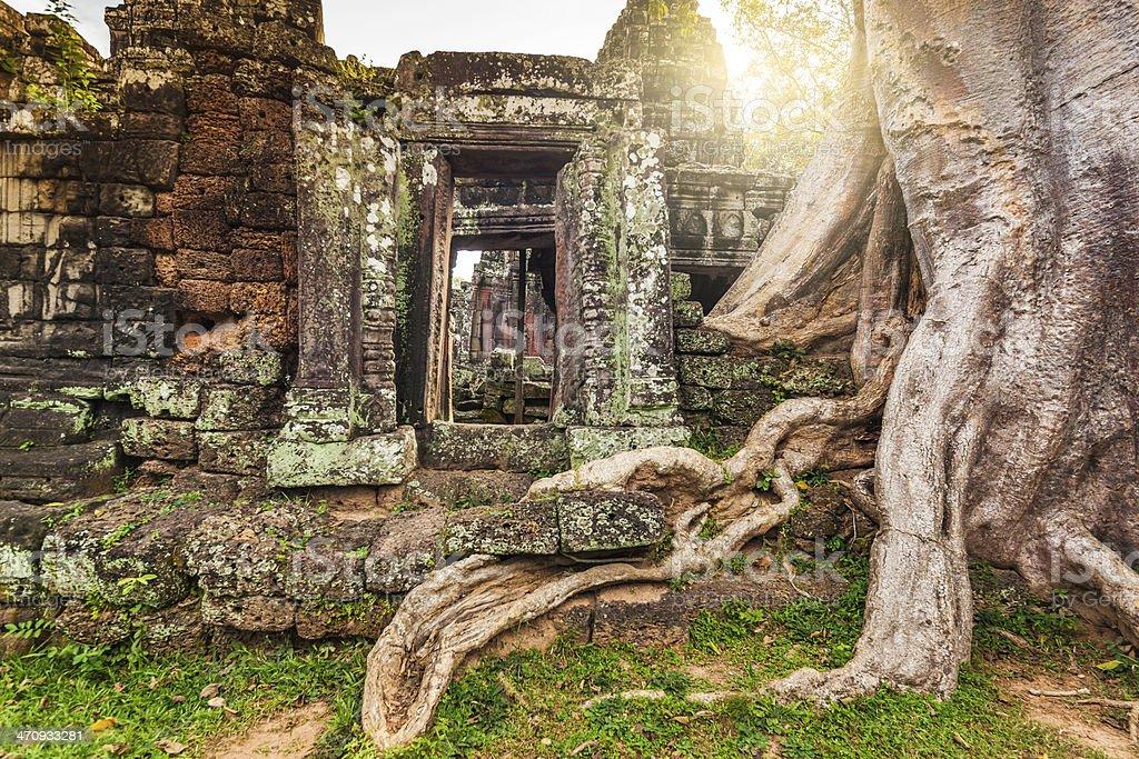 Angkor Wat, Cambodian Temple Ruins royalty-free stock photo