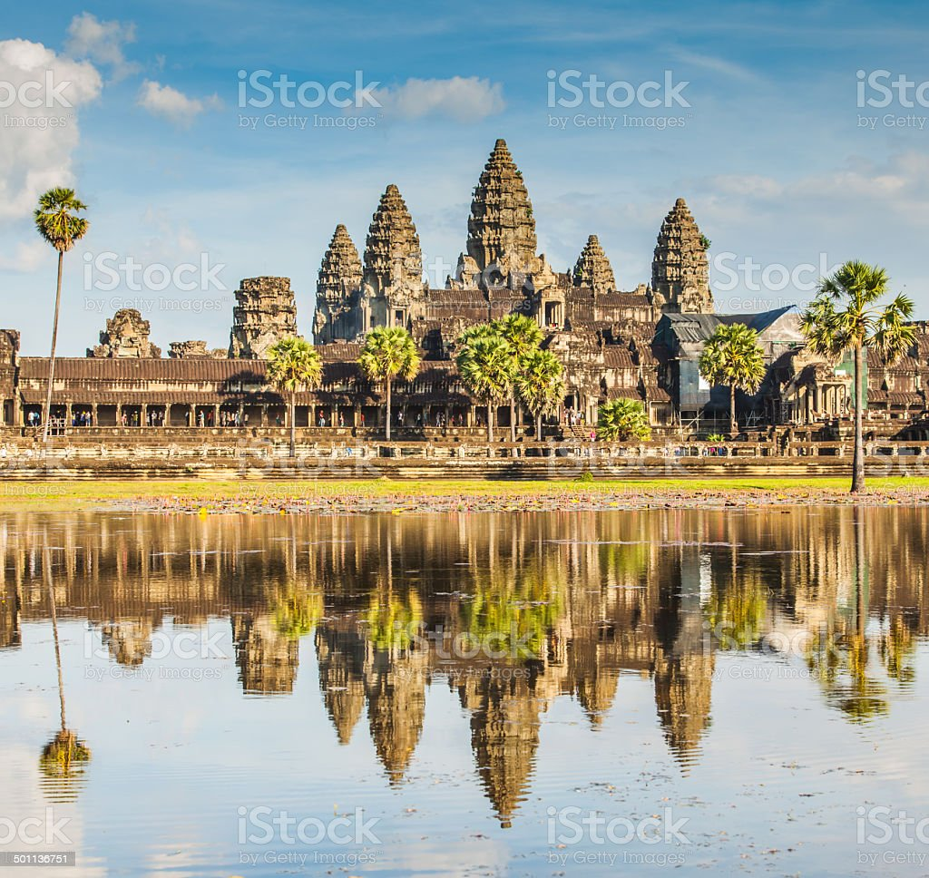 Angkor Wat castle. stock photo