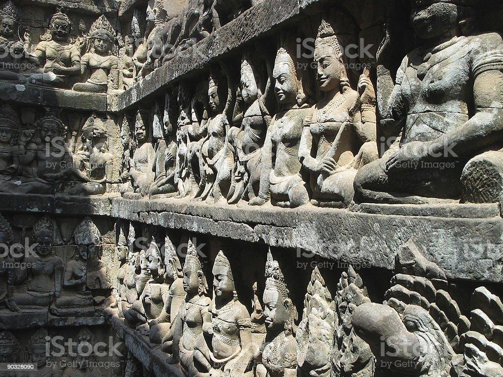 Angkor Wat Frieze royalty-free stock photo