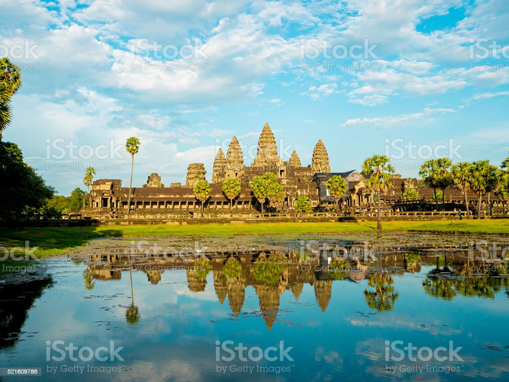 Angkor Wat in Cambodia stock photo