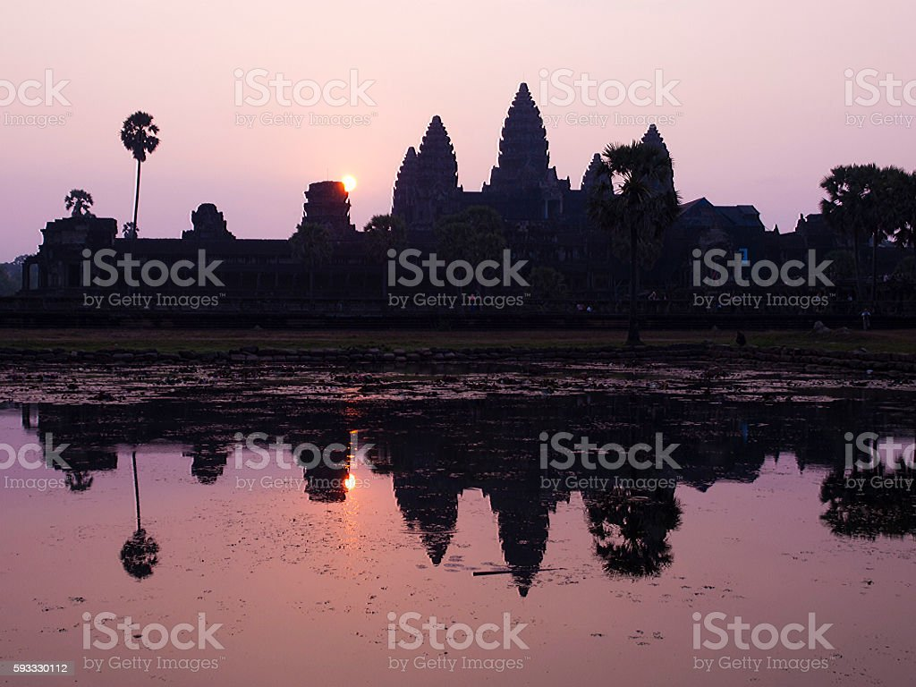 Angkor Wat in early morning stock photo