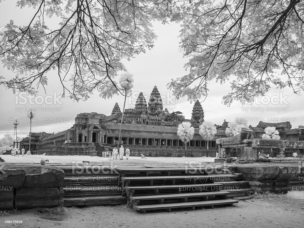 Angkor Wat in Infrared royalty-free stock photo