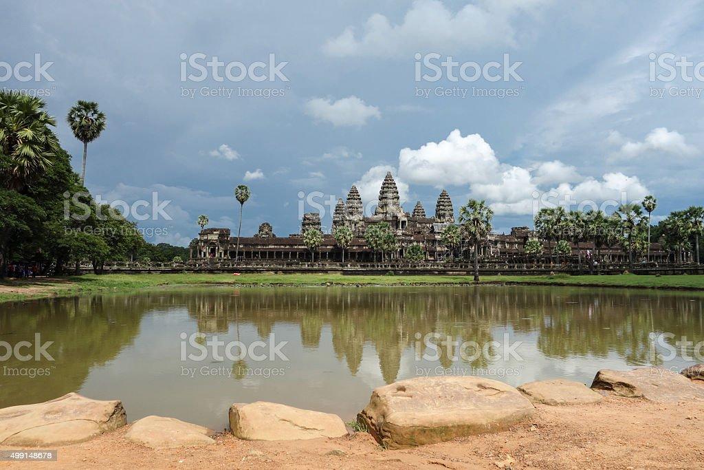 Angkor Wat on Sunny Day stock photo