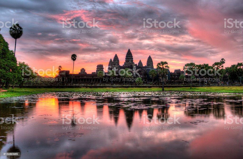 HDR Angkor Wat stock photo