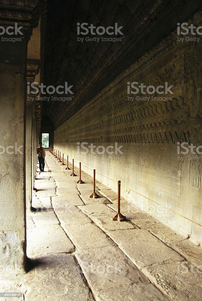 Angkor Wat Reflection, Cambodia royalty-free stock photo