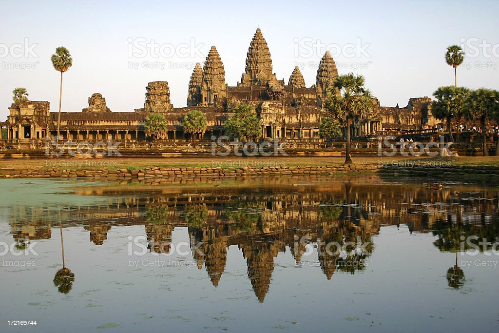 Angkor Wat Reflection royalty-free stock photo